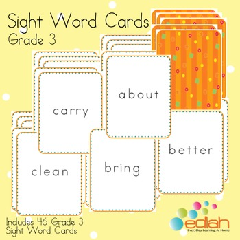 Sight Word Cards-Grade 3