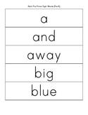 Sight Word Cards - Grades: Pre-K, K, 1, 2, 3