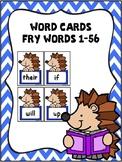 Sight Word Cards -Hedgehog