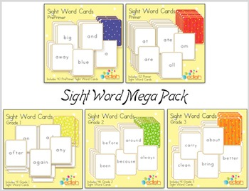 Sight Word Cards-Mega Pack