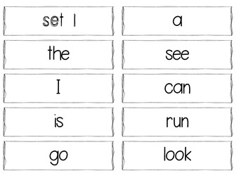 Sight Word Cards - Neon
