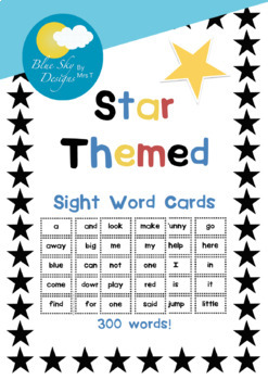 Sight Word Cards Pack - Star Themed