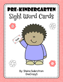 Sight Word Cards - Pre K