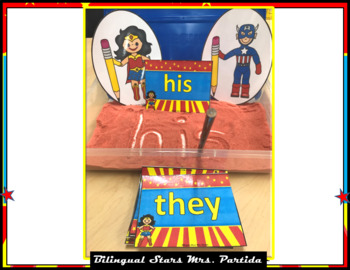 Sight Word Cards Pre-Primer Dolch Words Wonder Woman Version KinestheticActivity