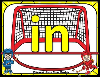 Sight Word Cards Pre-Primer Dolch Words Hockey Version Kinesthetic Activity
