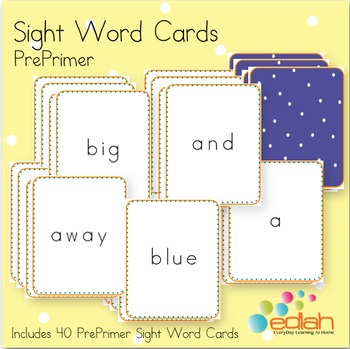Sight Word Cards-PrePrimer
