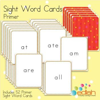 Sight Word Cards-Primer