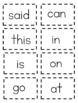 Sight Word Cards Set # 1