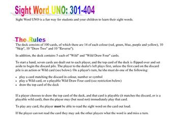 Sight Word Cards Set 4