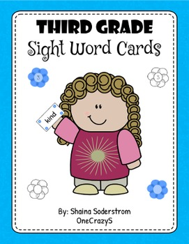 Sight Word Cards - Third Grade
