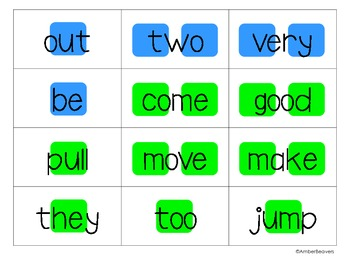 Candyland Sight Word Cards - Smart Start and Unit 1