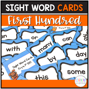 Sight Word Center Cards (Fry's 1st Hundred)