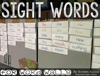 Sight Word Cards for First Grade