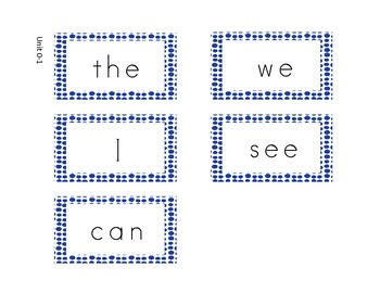 Sight Word Cards for Kindergarten McGraw-Hill Reading Wonders