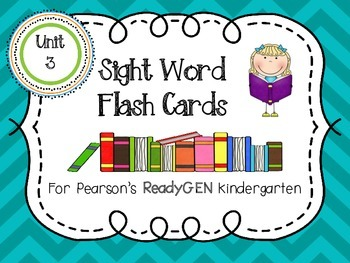 Sight Word Cards for ReadyGEN Kindergarten Unit 3