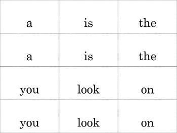 Sight Word Cards for ReadyGEN Kindergarten Units 1&2