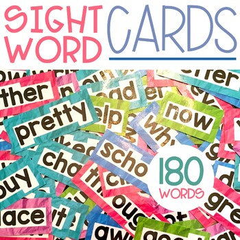 Sight Word Cards for Word Wall, 1st Grade