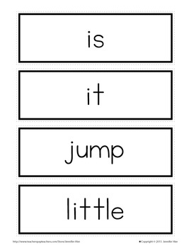 Sight Word Cards for Word Wall:Pre-Primer Popcorn Word Cards in 3 Colors