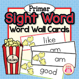Sight Word Cards for Word Wall Primer Popcorn Word Cards i