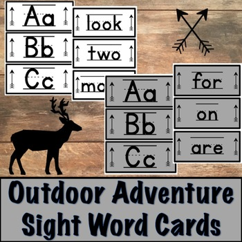Sight Word Cards with Outdoor Adventure Set