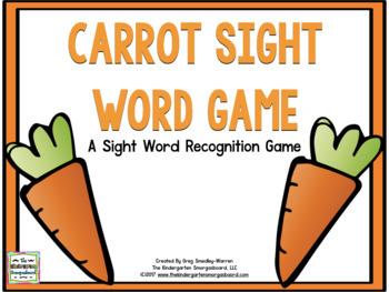 Sight Words Carrots!