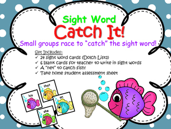 "Sight Word ""Catch It"" Game"