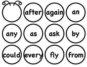 First Grade Sight Word Caterpillar