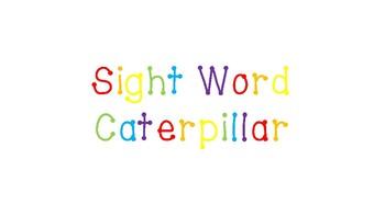 sight word caterpillar template by mychalkchild tina pickens tpt