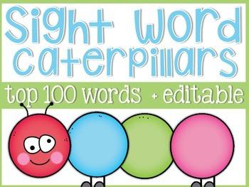 Sight Word Caterpillars