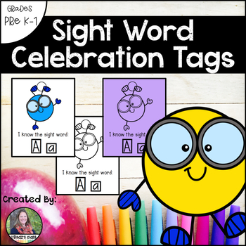 Sight Word Celebration Tags