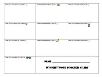 Sight Word Celebrities BUNDLE - Sight Word Incentive Program All Dolch Words