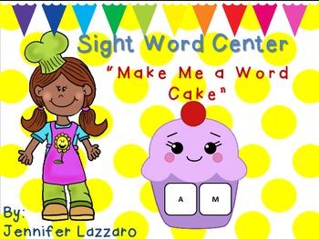Cupcake Sight Word Center
