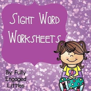 Sight Word Worksheets- Homework, Morning Work, or Centers