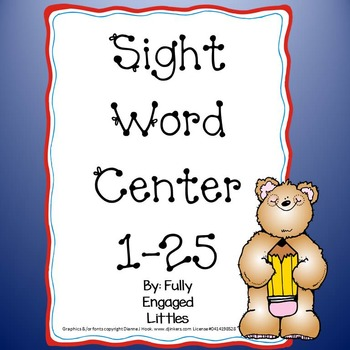 Sight Word Worksheets 1-25