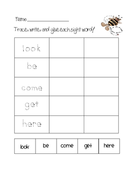 Sight Word Center
