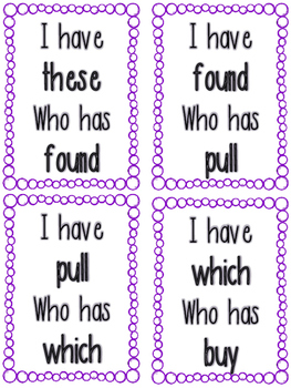 2nd Grade Sight Words- I have... Who has...?
