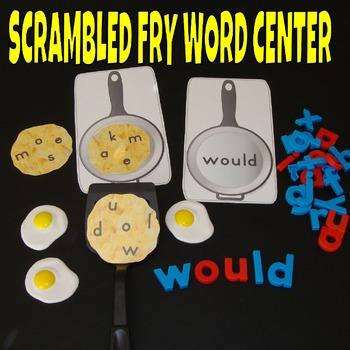 Sight Word Center Activities Fry Words 1st 100 Scrambled Eggs 1-100 Literacy