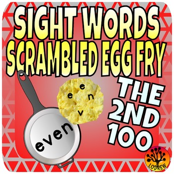 Sight Word Center Activities Fry Words 2nd 100 Scrambled Eggs 101-200 Literacy