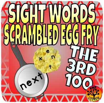 Sight Word Center Activities Fry Words 3rd 100 Scrambled Eggs 201-300 Literacy