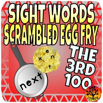 Sight Word Center Activities Fry Words 3rd 100 Scrambled E