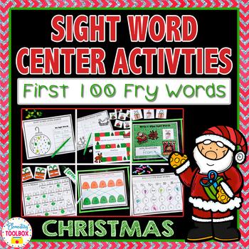 Sight Word Center Activities for December