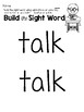 Sight Word Center Activities for the word: talk