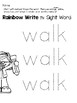 Sight Word Center Activities for the word: walk