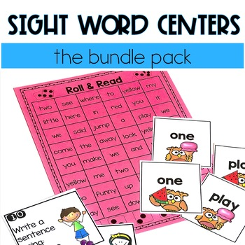 Sight Word Centers (The Bundle Pack!)