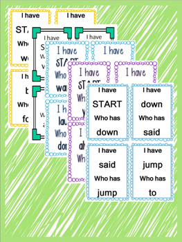 Sight Word Center Bundle- I have... Who has..?