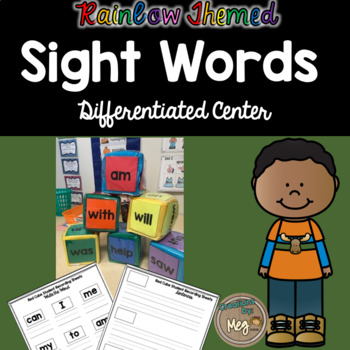 Sight Word Center {Differentiated Cubes}