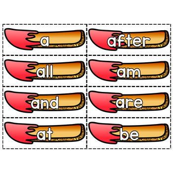 Sight Word Center - Fries & Ketchup!