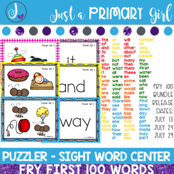 Sight Word Center | Fry 100 Bundle GROWING BUNDLE