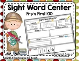 Sight Word Center-Fry's First 100 Student Pages Plus Bonus Flash Cards