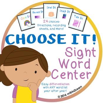 Sight Word Center Kindergarten First grade Second grade